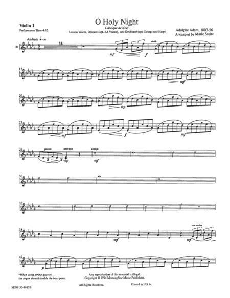 O Holy Night (Instrumental Parts)