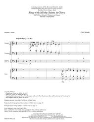 Sing with All the Saints In Glory (Full Score)