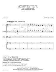 O Lord, How Shall I Meet You (Full Score)