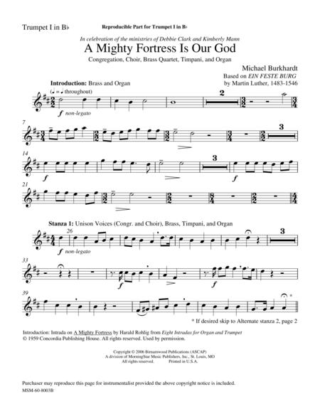 A Mighty Fortress Is Our God (Instrumental Parts)