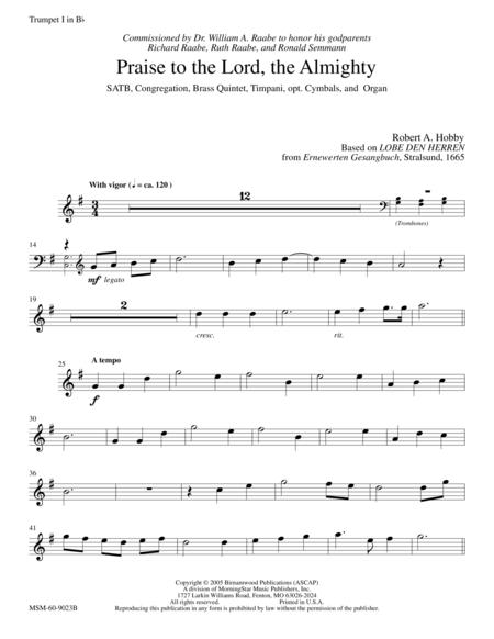 Praise to the Lord, the Almighty (Instrumental Parts)
