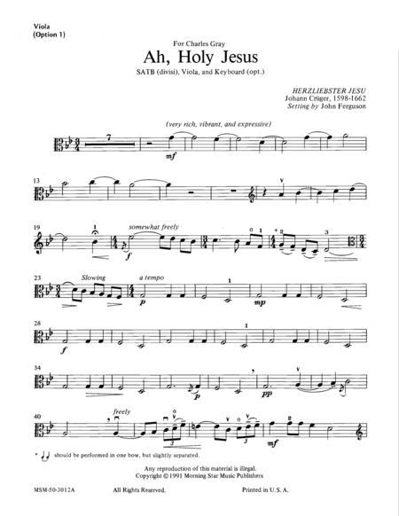 Ah, Holy Jesus (Viola Part)