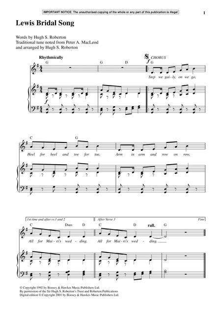 Lewis Bridal Song
