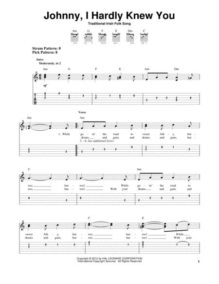 Download Johnny, I Hardly Knew You Sheet Music By