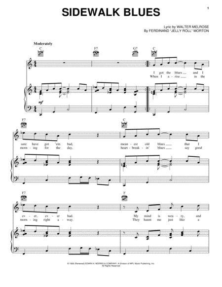 Download Sidewalk Blues Sheet Music By Walter Melrose