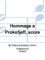 Hommage a Prokofjeff, score
