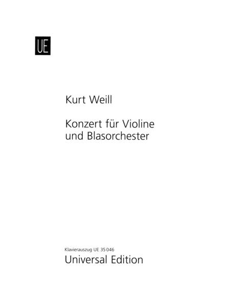 Concerto for Violin and Wind Orchestra, Op. 12