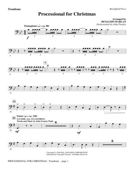 Processional For Christmas - Trombone