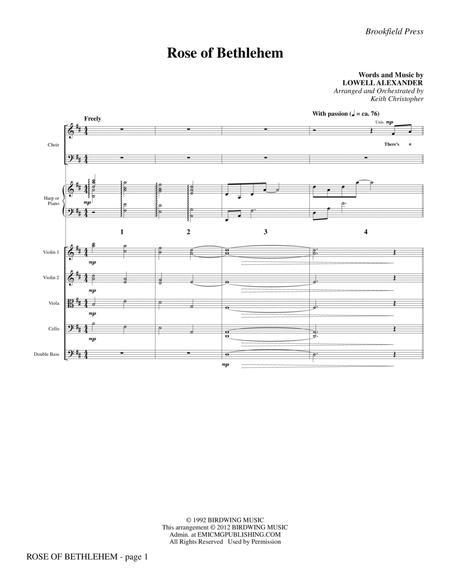 Rose Of Bethlehem - Full Score