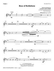 Rose Of Bethlehem - Violin 1