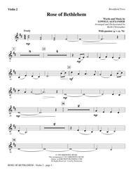 Rose Of Bethlehem - Violin 2