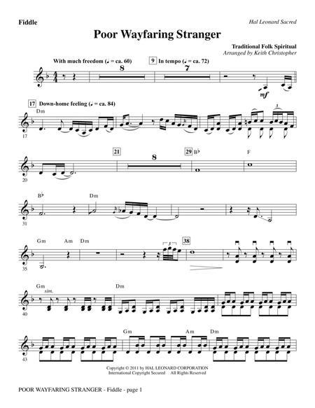 Poor Wayfaring Stranger - Fiddle