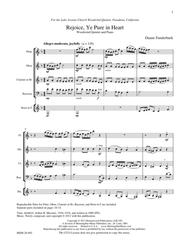Rejoice, Ye Pure in Heart: Woodwind Quintet and Piano