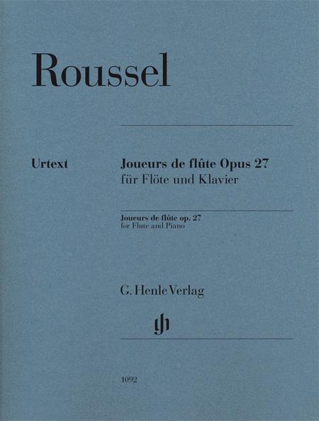 Joueurs de flute Op. 27 for Flute and Piano
