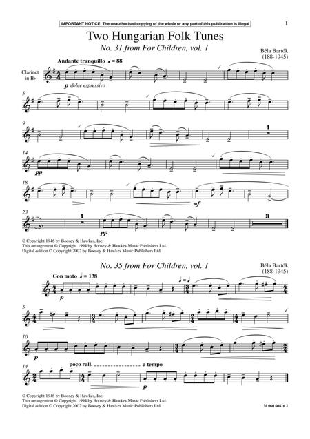 Two Hungarian Folk Tunes (No. 31 from For Children, Vol. 1)