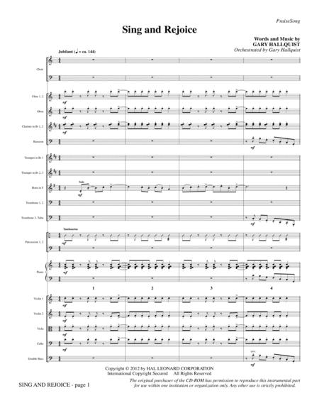 Sing and Rejoice - Full Score
