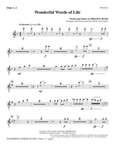 Wonderful Words of Life - Flute 1 & 2