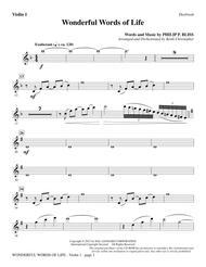 Wonderful Words of Life - Violin 1