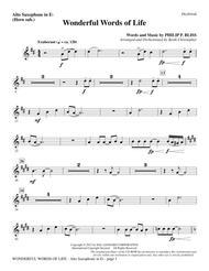 Wonderful Words of Life - Alto Sax (sub. Horn)