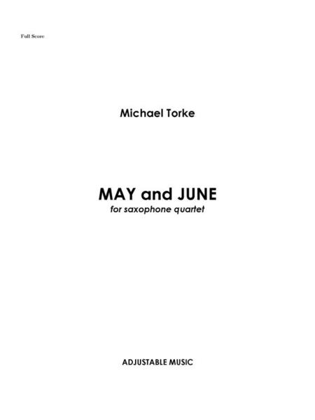 May and June (score and parts)
