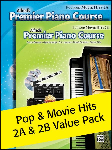 Premier Piano Course, Pop and Movie Hits 2A & 2B 2012 (Value Pack)