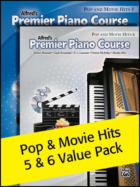 Premier Piano Course, Pop and Movie Hits 5 & 6 2012 (Value Pack)