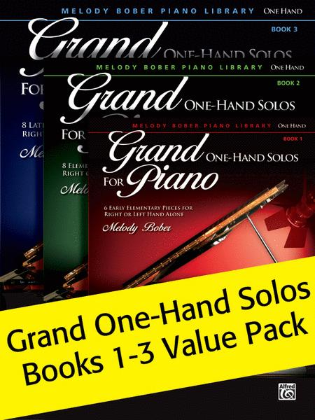 Grand One-Hand Solos Books 1-3 2012 (Value Pack)