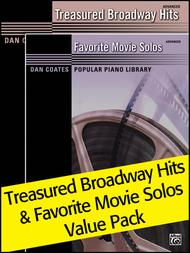 Dan Coates Popular Piano Library: Treasured Broadway Hits & Favorite Movie Solos (Value Pack)