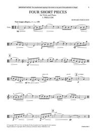 I. Prelude (from Four Short Pieces For Viola And Piano)