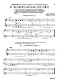 23 Progressive Clarinet Duets (from Mikrokosmos)