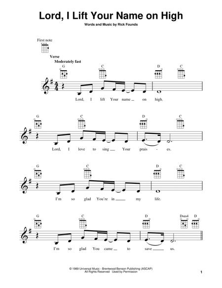 Download Lord, I Lift Your Name On High Sheet Music By Rick Founds ...