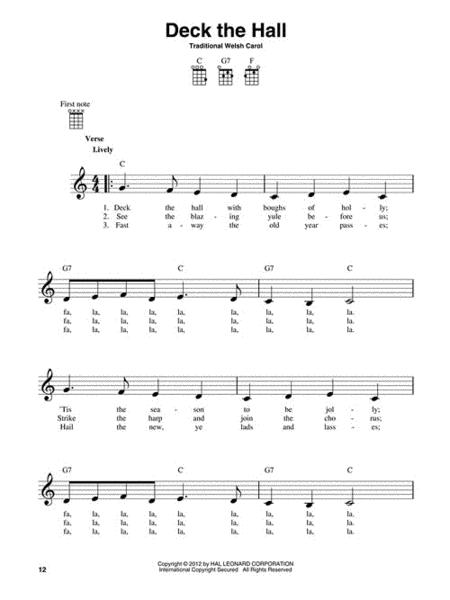 Preview 3 Chord Christmas Carols For Ukulele By Various Hl101852
