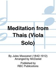 Meditation from Thais (Viola Solo)