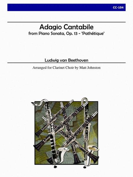 Adagio Cantabile from 'Sonata Pathetique' for Clarinet Choir