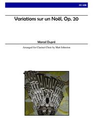 Variations sur un Noel, Op. 20 for Clarinet Choir