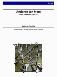 Andante con Moto from Serenade, Op. 44 for Clarinet Choir
