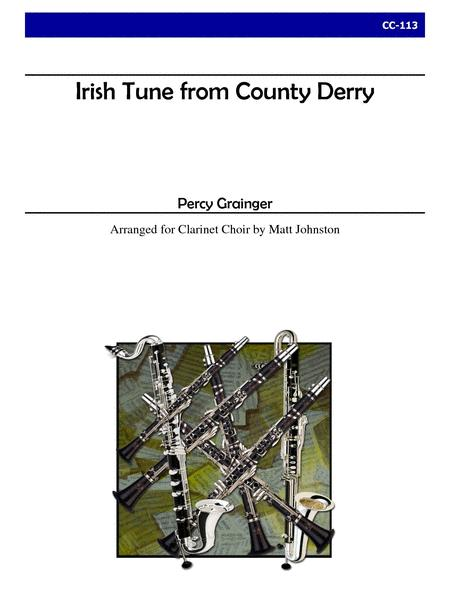 Irish Tune From County Derry For Clarinet Choir Sheet ...