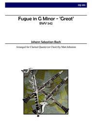 Fugue in G minor -- 'Great' for Clarinet Quartet