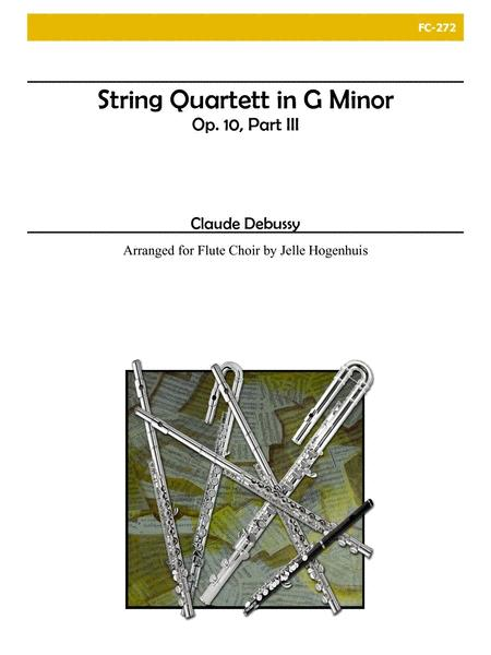 String Quartet in G minor, Op. 10, part III for Flute Choir
