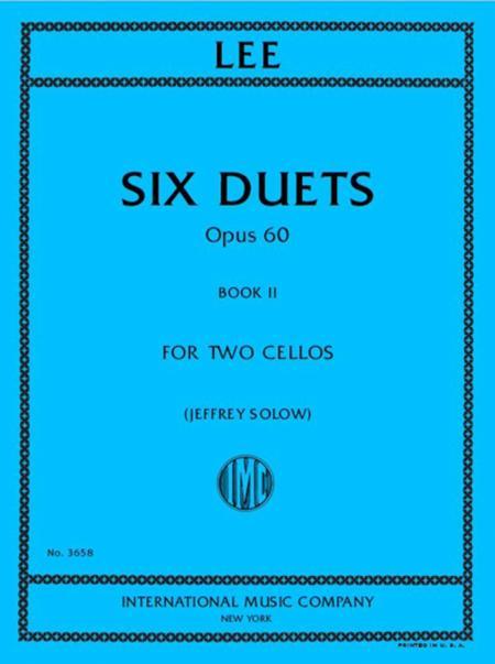 6つのデュエット・Op.60・第2巻 (ゼバスティアン・リー)(チェロ二重奏)【Six Duets, Opus 60, Book II】