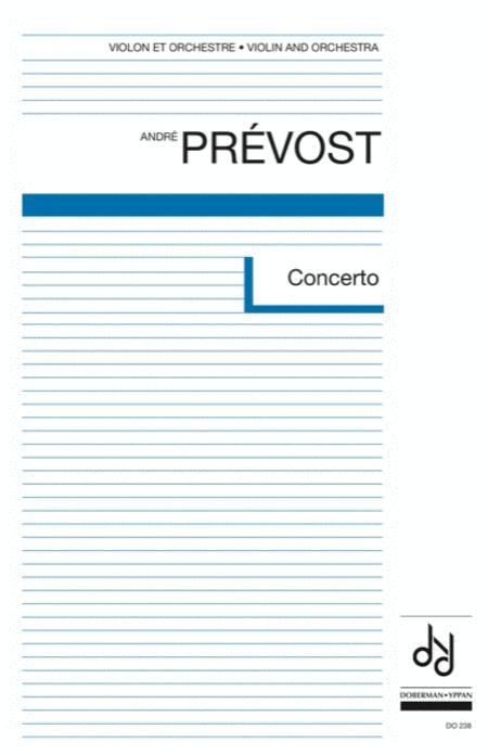 Concerto for violin (score)