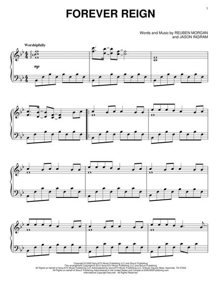 Download Forever Reign Sheet Music By Hillsong United - Sheet Music Plus