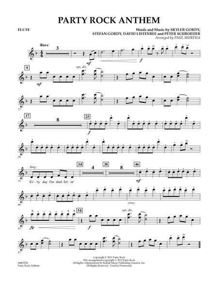 Party Rock Anthem Flute By Lmfao Paul Murtha Digital Sheet Music For Individual Instrument Part Download Print Hx 243071 Sheet Music Plus