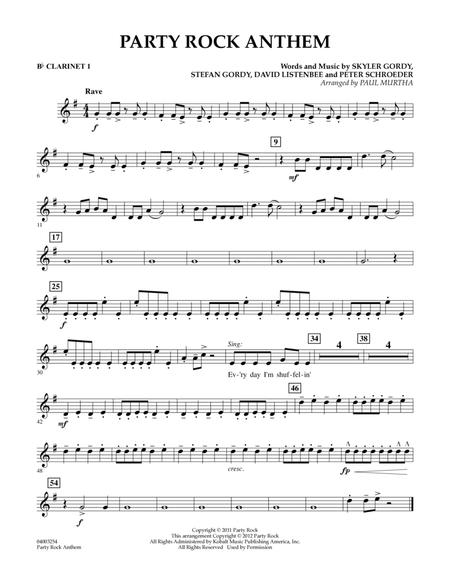 Party Rock Anthem Bb Clarinet 1 By Lmfao Paul Murtha Digital Sheet Music For Individual Instrument Part Download Print Hx 243074 Sheet Music Plus