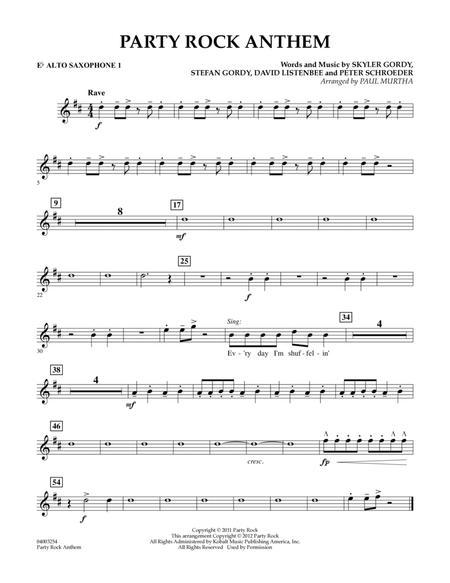Party Rock Anthem - Eb Alto Saxophone 1