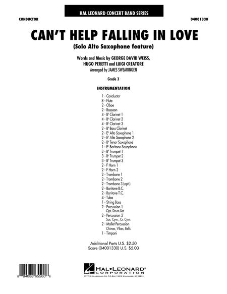 Can't Help Falling In Love (Solo Alto Saxophone Feature) - Full Score