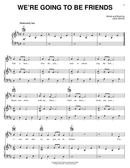 Download Were Going To Be Friends Sheet Music By Jack White Sheet
