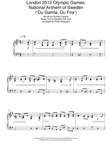 London 2012 Olympic Games: National Anthem Of Sweden ('Du Gamla, Du Fria')