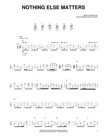 Download Nothing Else Matters Sheet Music By Metallica - Sheet Music ...