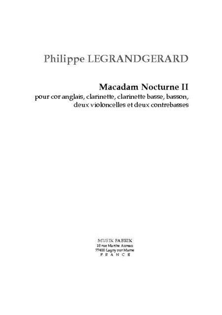 Macadam Nocturne II